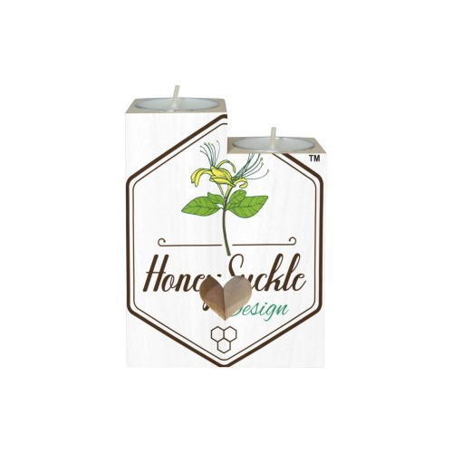 Honey Suckle Wooden Candle Holder (Without Candle)