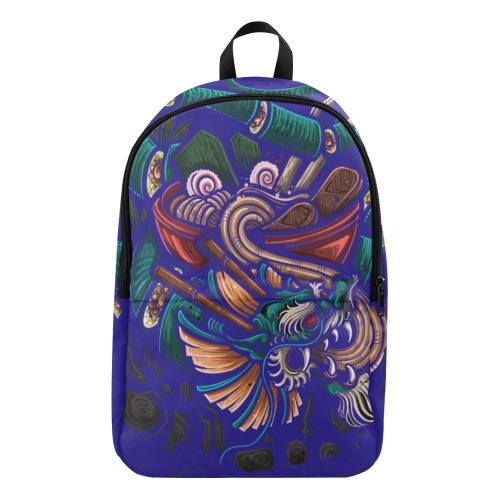 Blue dragon roll Deconstruction Fabric Backpack for Adult (Model 1659)