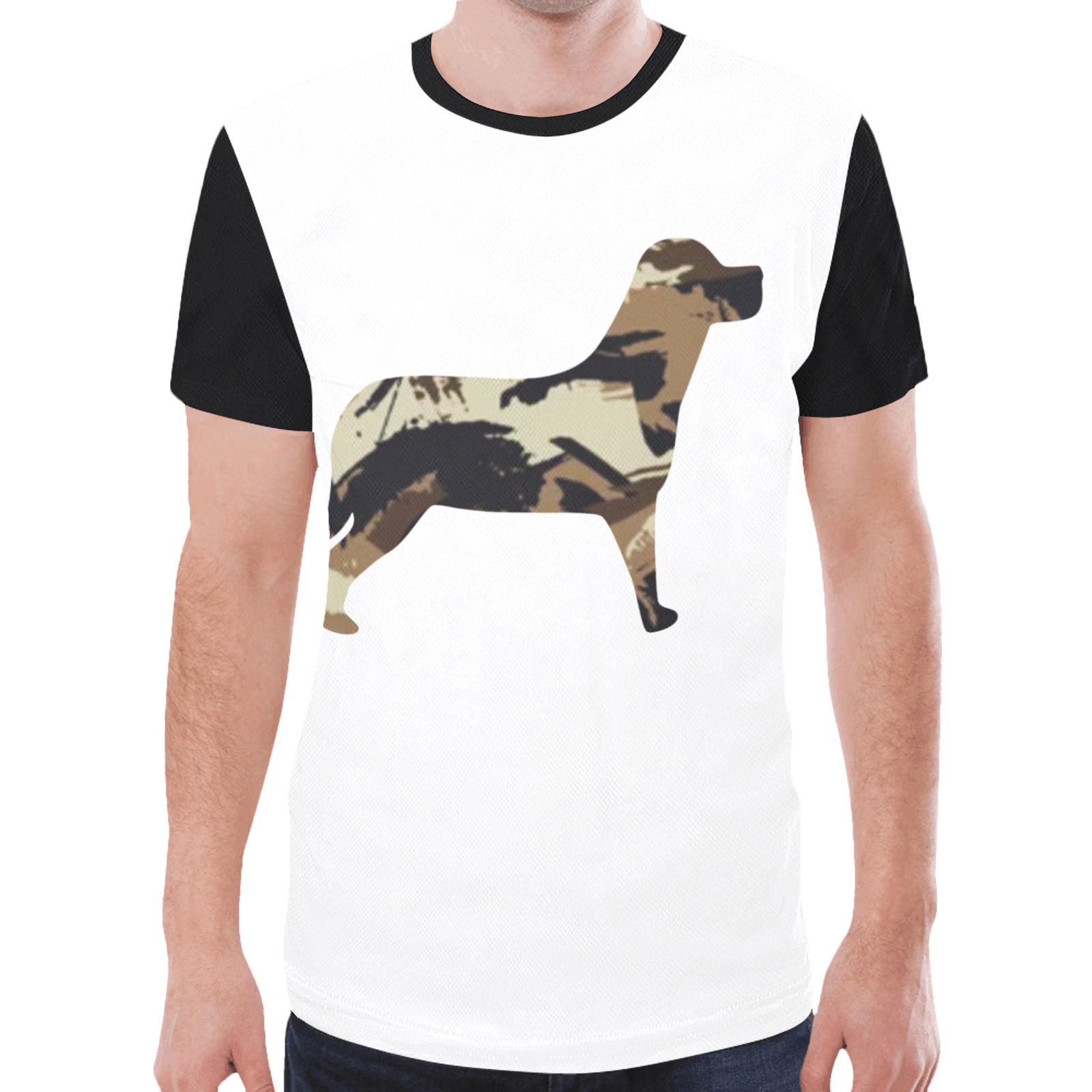 Brown Camo Dog New All Over Print T-shirt for Men (Model T45)
