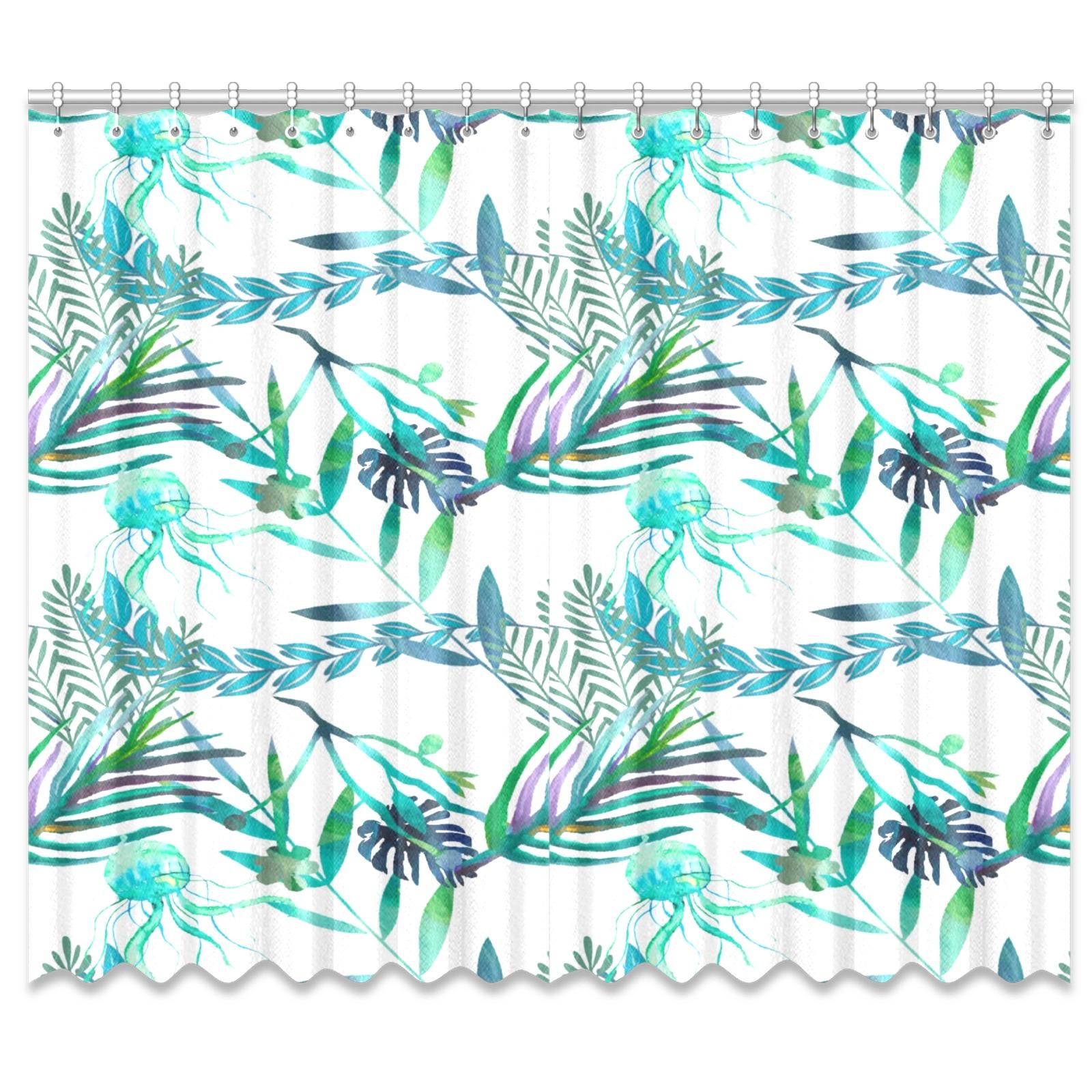 """leafs Window Curtain 50""""x84""""(Two Piece)"""