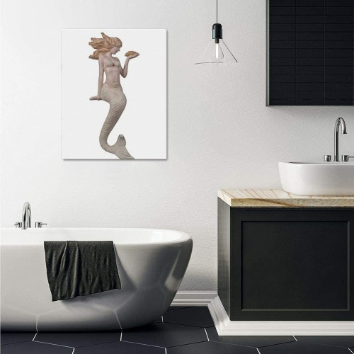 """Mermaid Frame Canvas Print 16""""x20"""""""