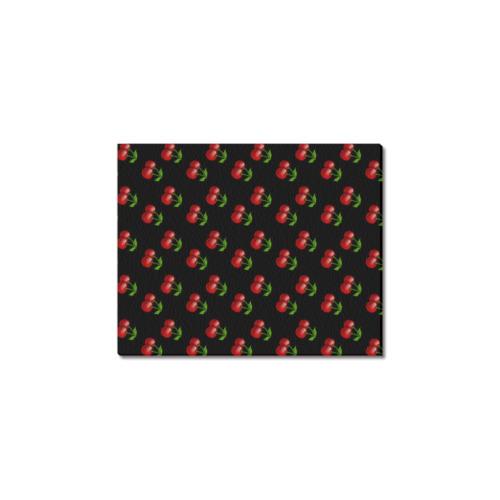 "retro black cherries Frame Canvas Print 8""x10"""