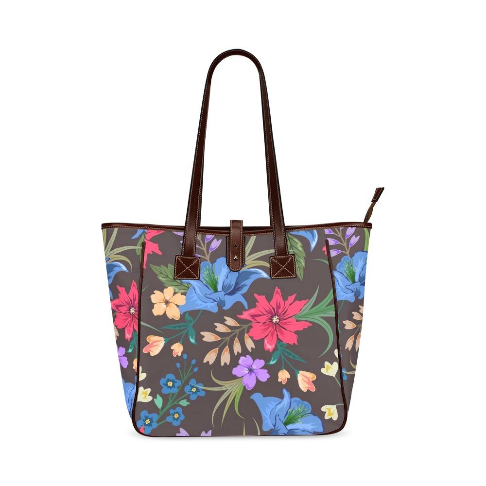Beautiful Bright Floral Classic Tote Bag (Model 1644)