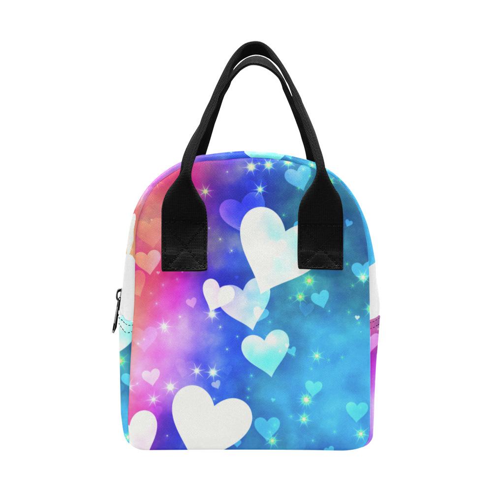 Dreamy Love Heart Sky Background Zipper Lunch Bag (Model 1689)