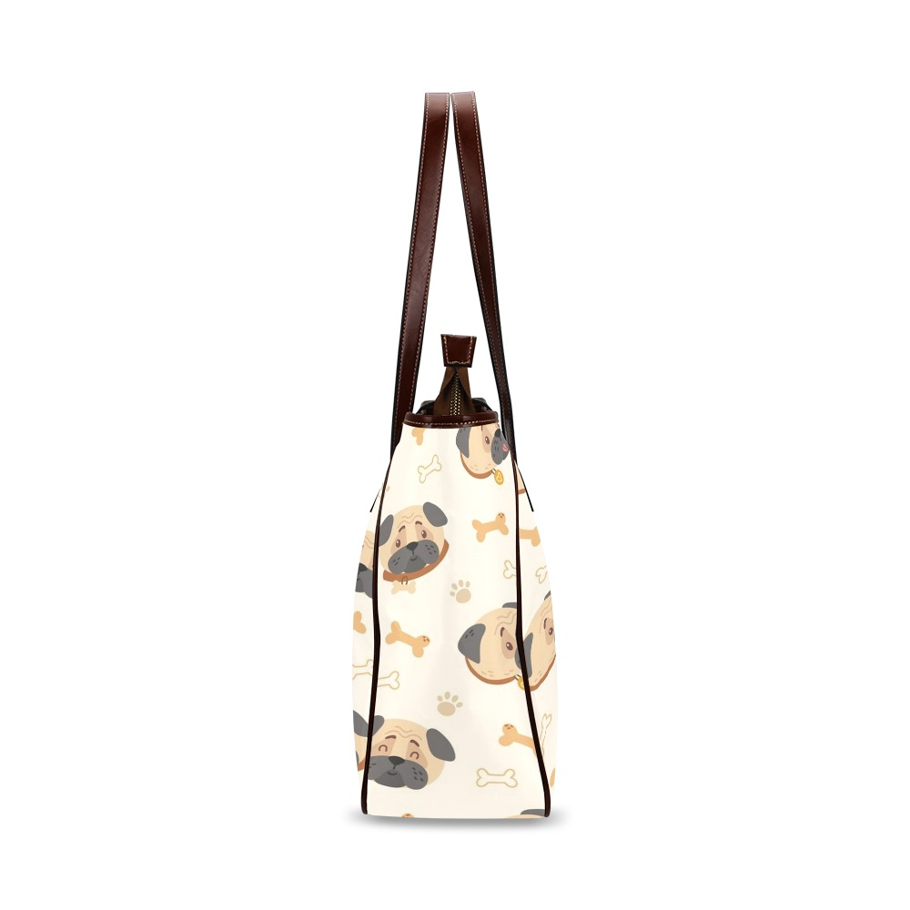Pugs Bones and Paws Classic Tote Bag (Model 1644)