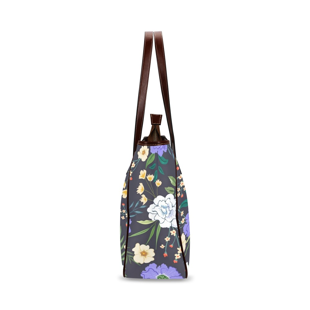 Beautiful Purple and White Floral Classic Tote Bag (Model 1644)