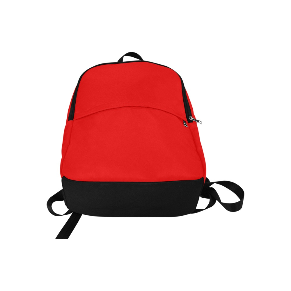 Merry Christmas Red Solid Color Fabric Backpack for Adult (Model 1659)