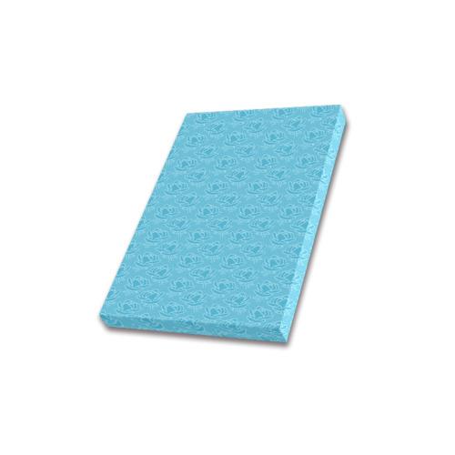 "retro blue pattern Frame Canvas Print 8""x10"""