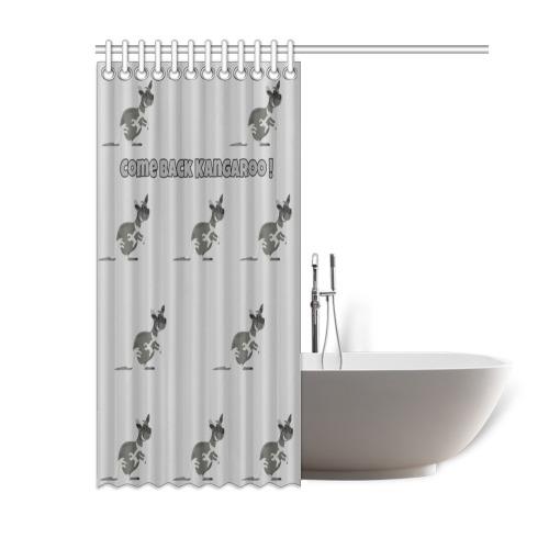 "G Scale Come Back Kangaroo Curtain Shower Curtain 60""x72"""