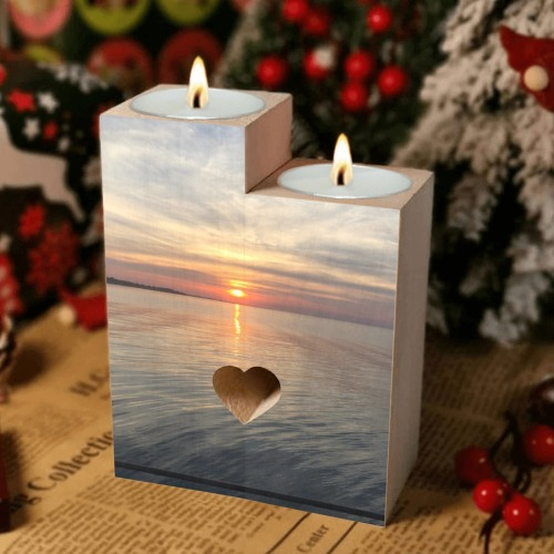 Early Sunset Collection Wooden Candle Holder (Without Candle)