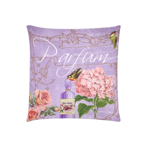 """VICTORIAN VINTAGE V Custom Zippered Pillow Cases 20""""x20"""" (Two Sides)"""