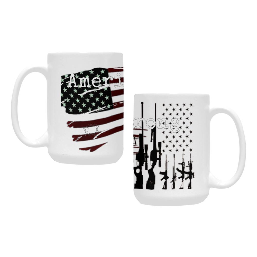 American Pride print Custom Ceramic Mug (15OZ)
