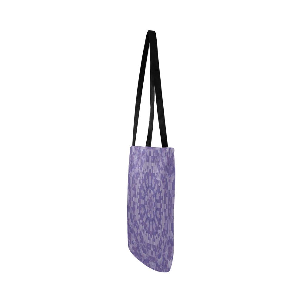 Purple Kaleidoscope Mosaic Reusable Shopping Bag Model 1660 (Two sides)