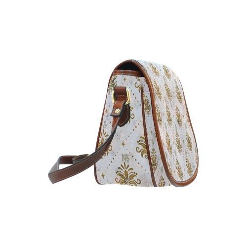 Gold Royal Pattern by Nico Bielow Saddle Bag/Large (Model 1649)