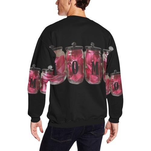 HOME Men's Oversized Fleece Crew Sweatshirt (Model H18)