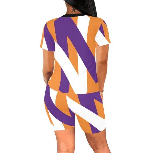 Signature Orange Set Women Women's Short Yoga Set (Sets 03)