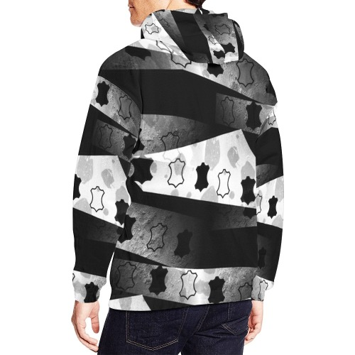 Leather Sign by Nico Bielow All Over Print Hoodie for Men (USA Size) (Model H13)