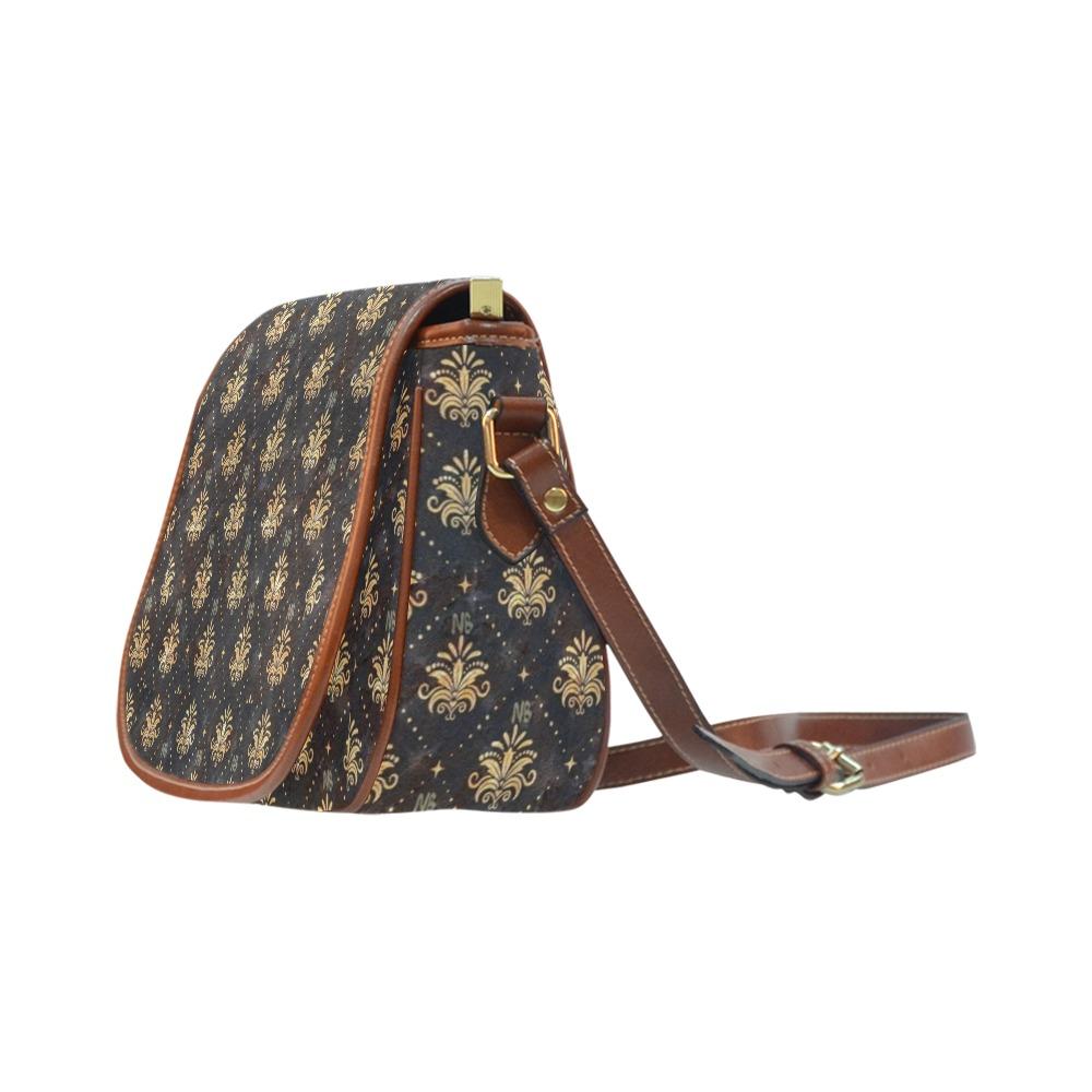 Royal Pattern by Nico Bielow Saddle Bag/Large (Model 1649)