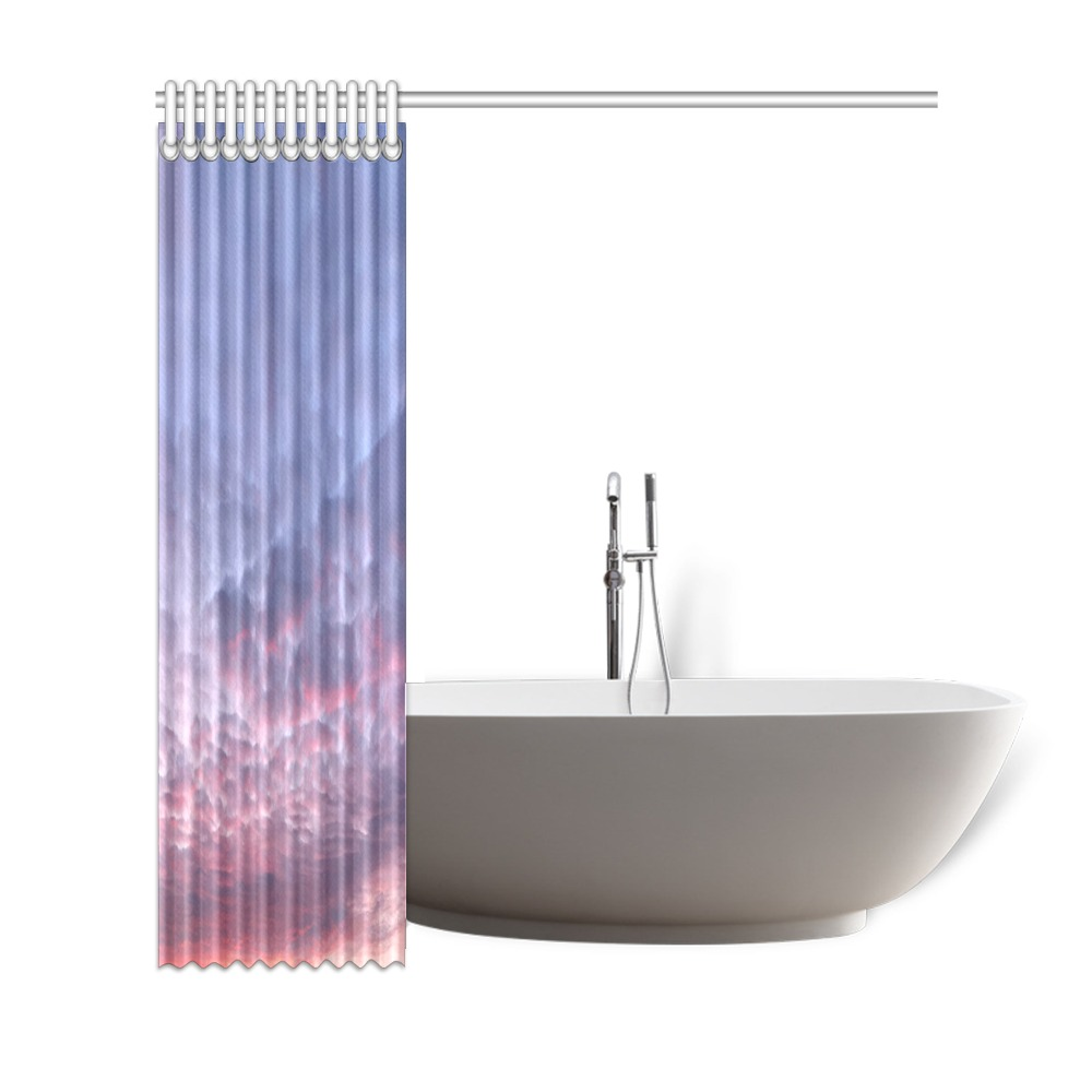 """Morning Purple Sunrise Collection Shower Curtain 69""""x72"""""""