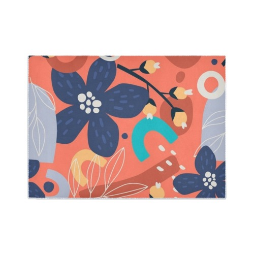 Abstract Art Floral - Bright and Beautiful Area Rug7'x5'