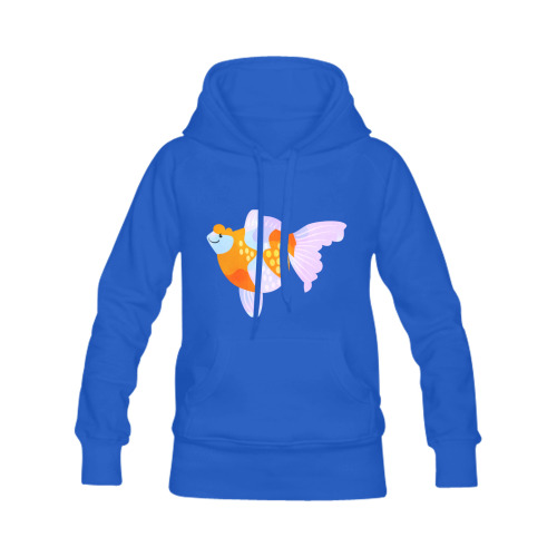 Pearlscale Fancy Aquarium Gold Fish Cartoon Men's Classic Hoodie (Remake) (Model H10)
