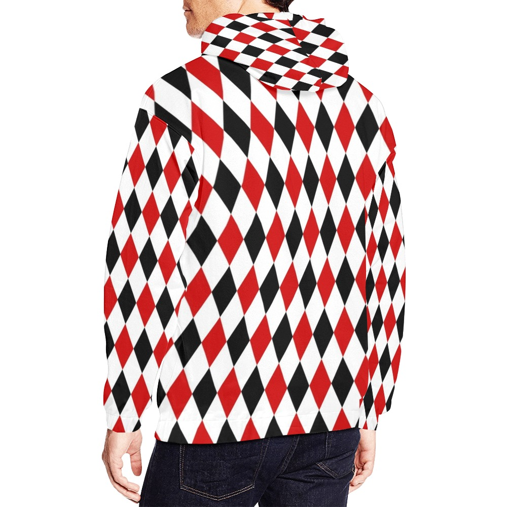 DIAMOND PATTERN All Over Print Hoodie for Men (USA Size) (Model H13)