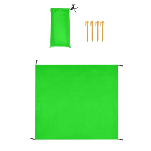 """Merry Christmas Green Solid Color Waterproof Picnic Mat 61""""x55"""""""
