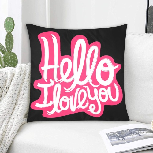 """Hello, I love you Custom Zippered Pillow Cases 20""""x20"""" (Two Sides)"""