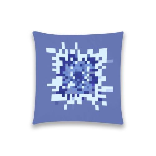 "Blueberry Geometric Square Custom  Pillow Case 18""x18"" (one side) No Zipper"