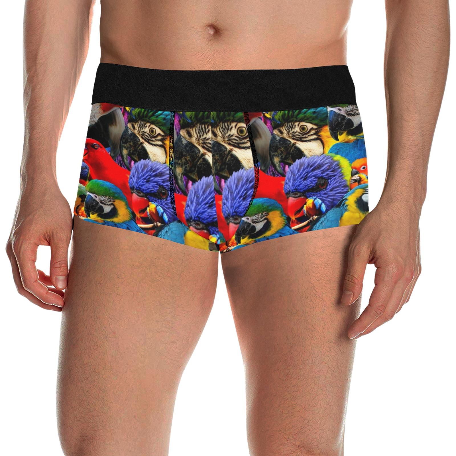 PARROTS Men's All Over Print Boxer Briefs/Short Size (Model L22)