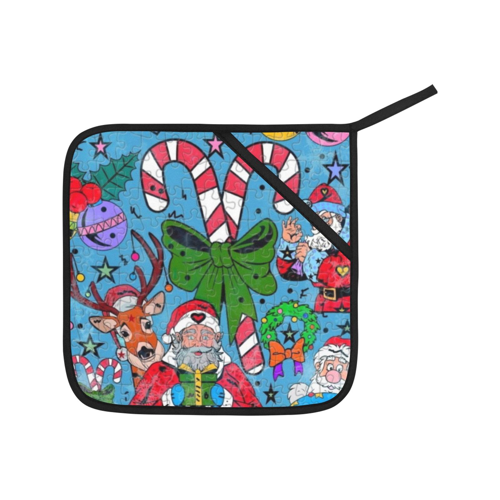 Hohoho Christmas by Nico Bielow Oven Mitt & Pot Holder