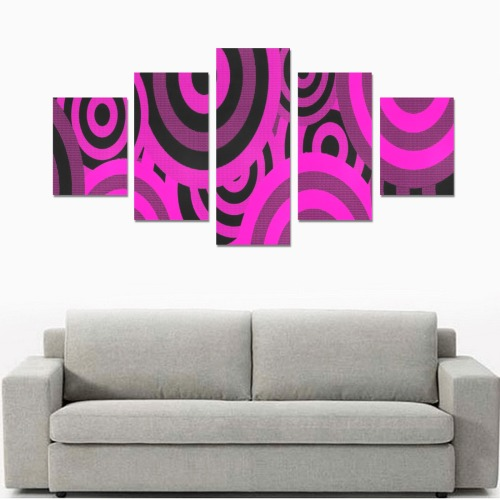 ROUND AND ROUND WE GO 3 Canvas Print Sets B (No Frame)