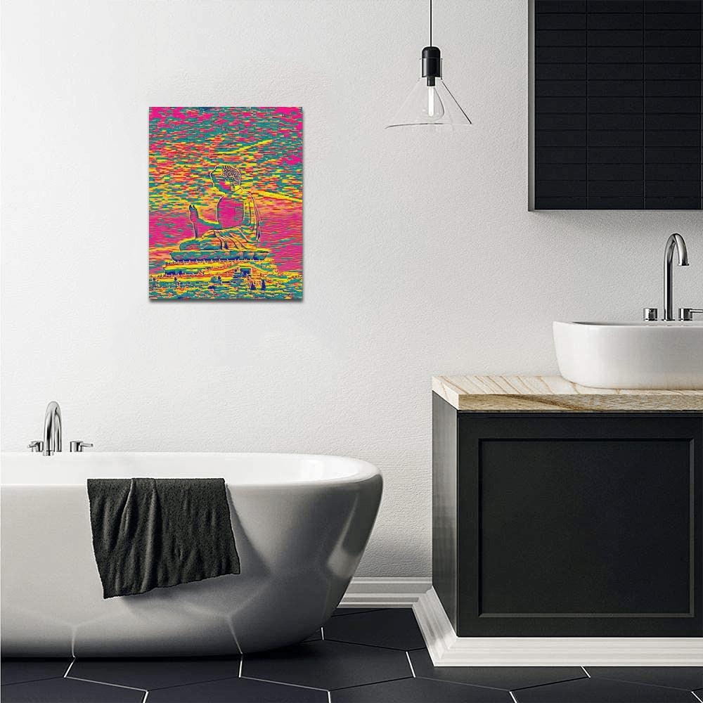 "Buddha Acrylic Painting by Han Solo Moon Canvas Print 16""x20"""