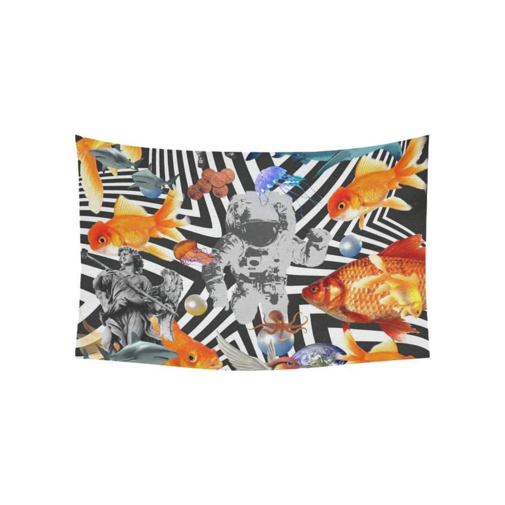 """POINT OF ENTRY 2 Cotton Linen Wall Tapestry 60""""x 40"""""""