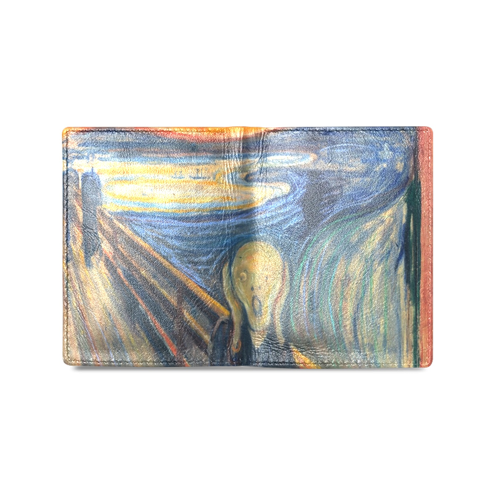 Edvard Munch-The scream Men's Leather Wallet (Model 1612)