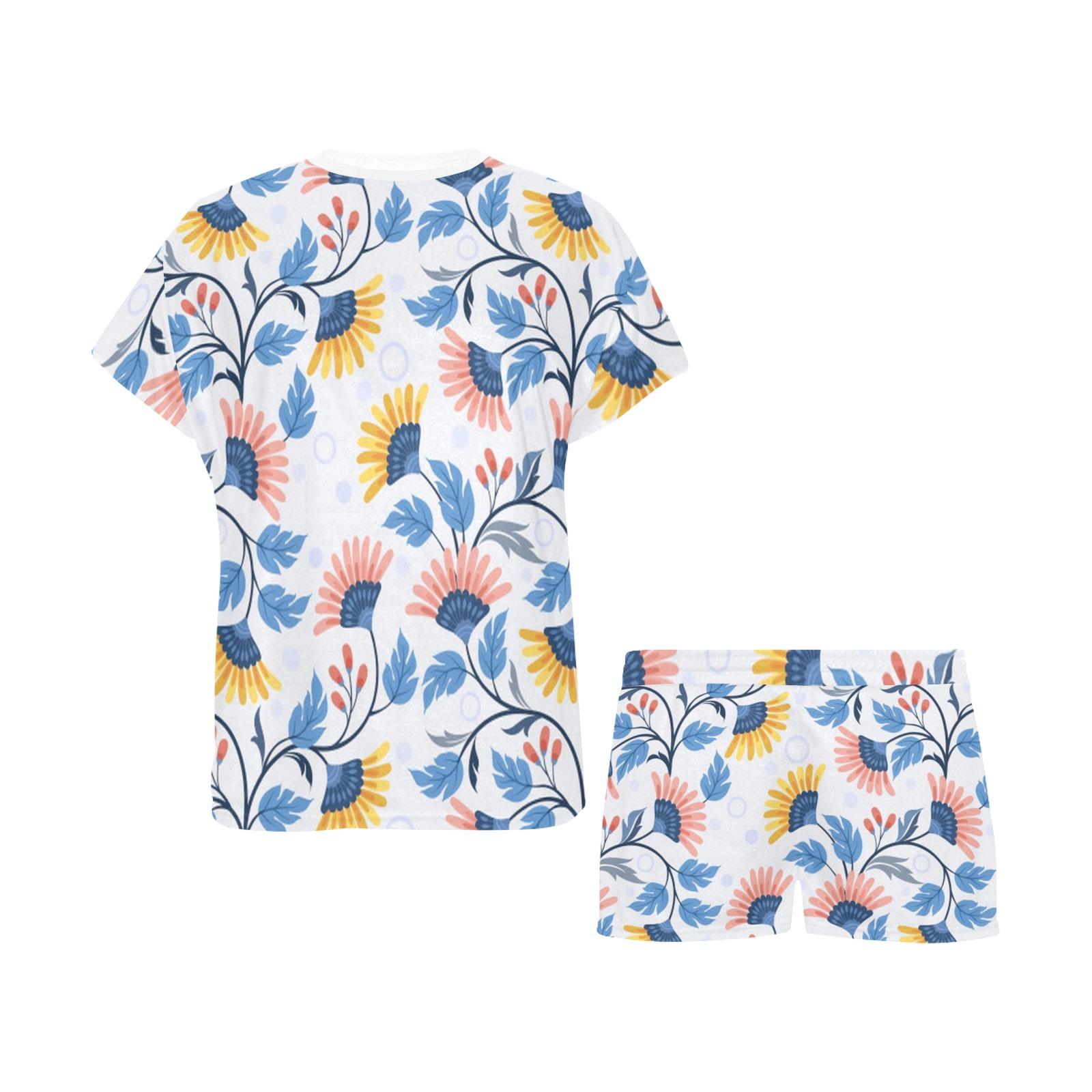 Sweet Flowers Women's Short Pajama Set (Sets 01)