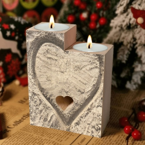 Love in the Sand Collection Wooden Candle Holder (Without Candle)