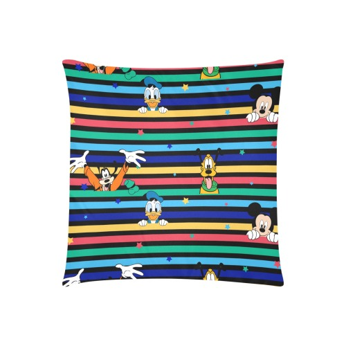 """duck, mouse, dog Custom Zippered Pillow Cases 20""""x20"""" (Two Sides)"""