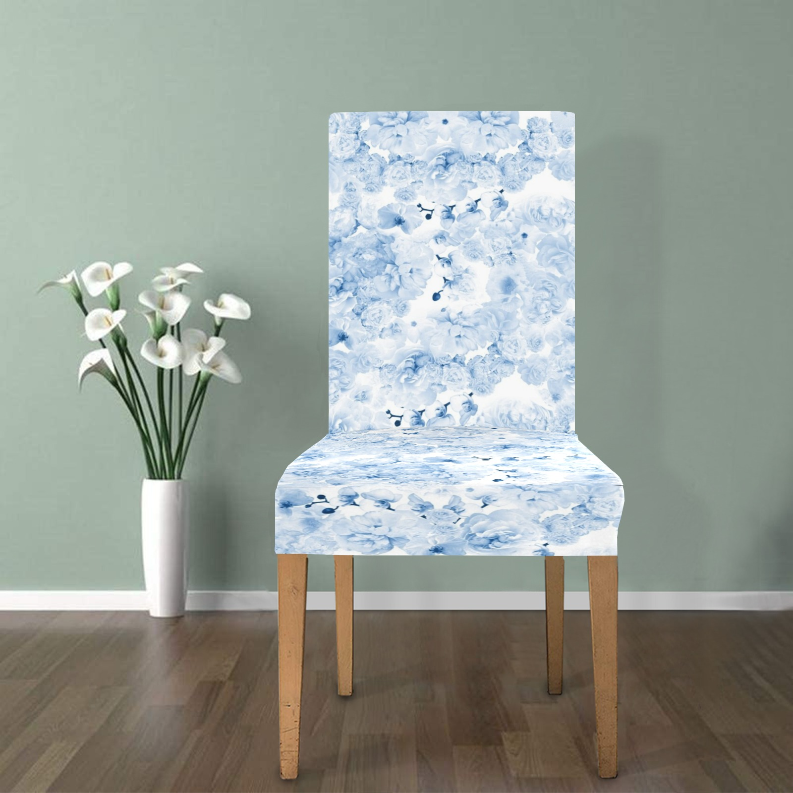 peonies flowers12 Chair Cover (Pack of 6)