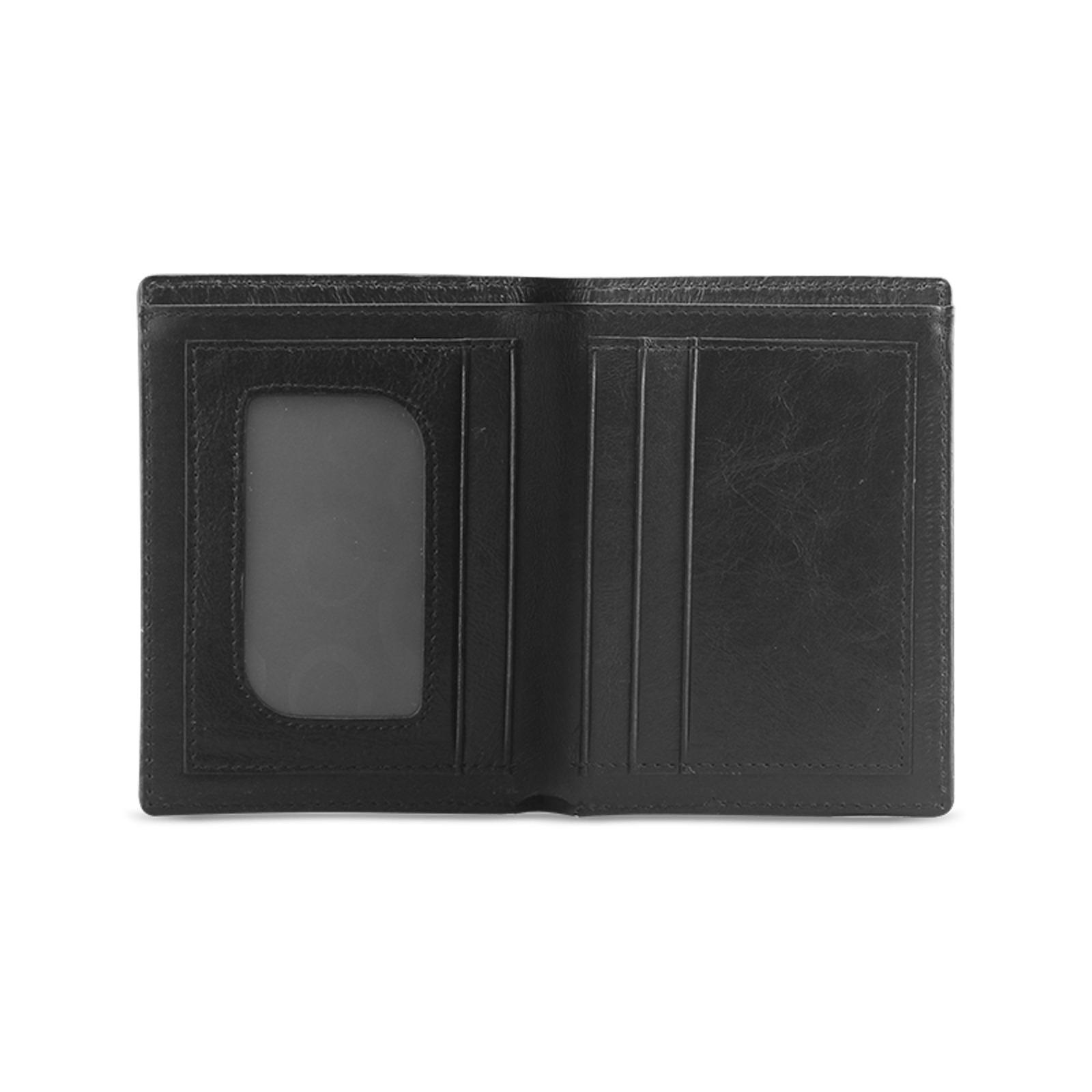 DOLLARS WALLET Men's Leather Wallet (Model 1612)