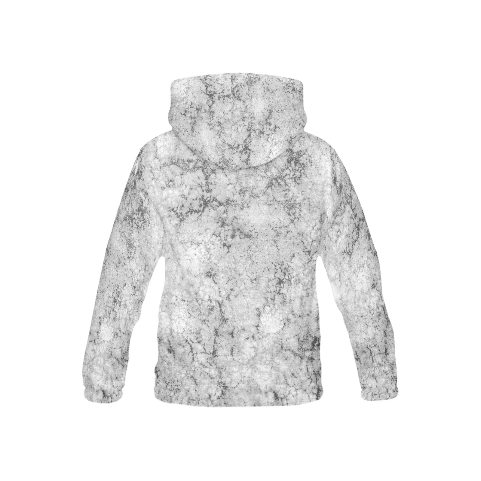 Textured gray All Over Print Hoodie for Kid (USA Size) (Model H13)