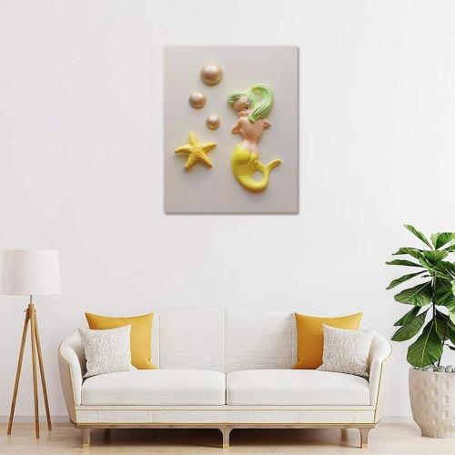 "Mermaid / Starfish Frame Canvas Print 16""x20"""