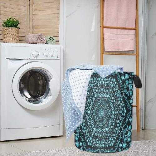 black flowers design Laundry Bag (Large)