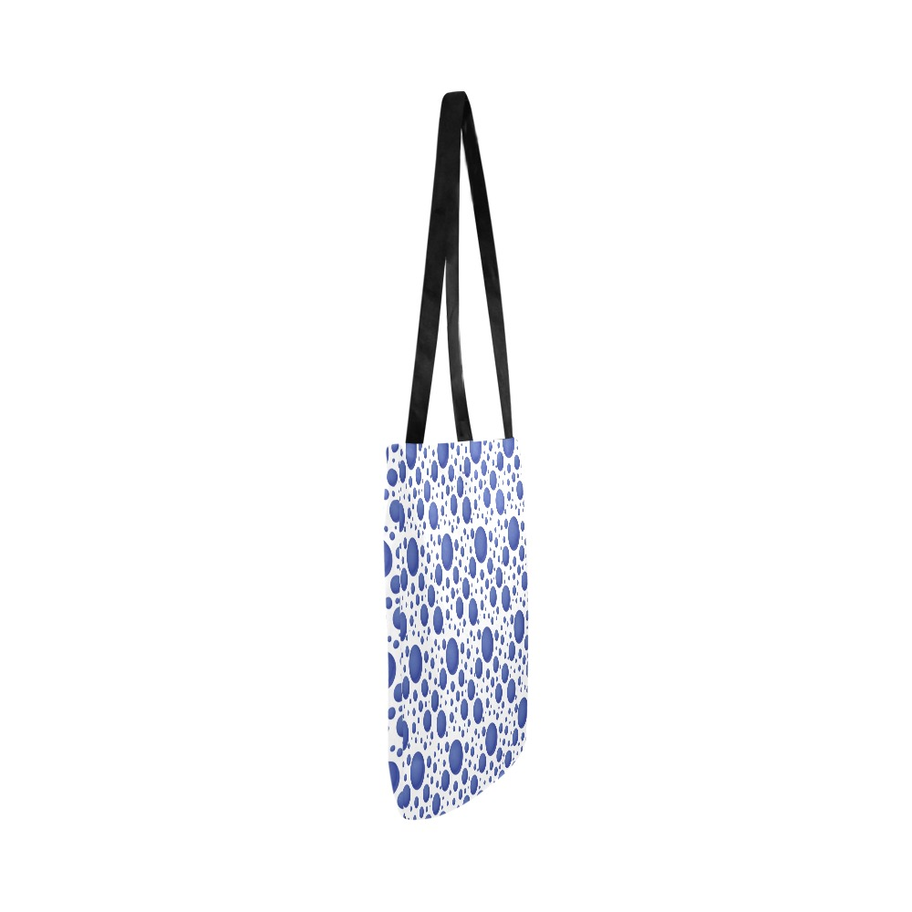 Abstract blue bubbles pattern Reusable Shopping Bag Model 1660 (Two sides)