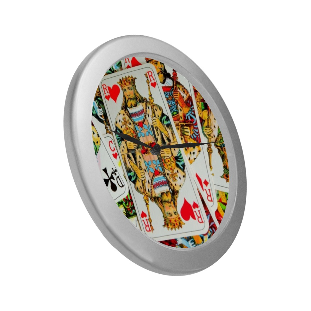 KINGS Silver Color Wall Clock