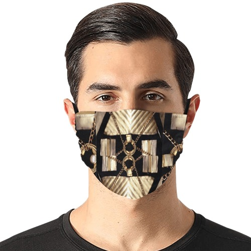 Mask Galaxie Flat Mouth Mask with Drawstring (Model M07)