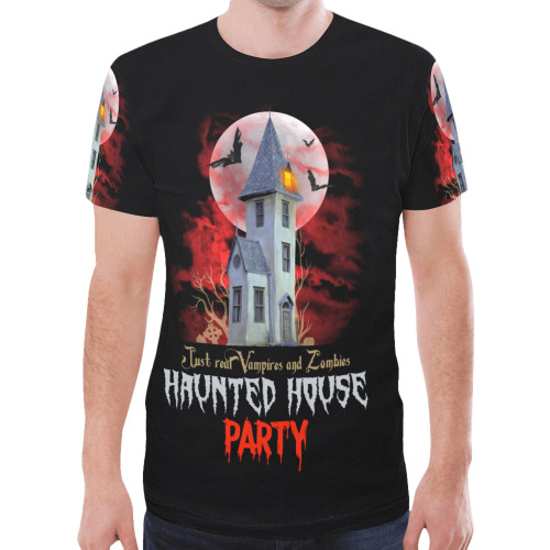 The HAUNTED HOUSE New All Over Print T-shirt for Men (Model T45)
