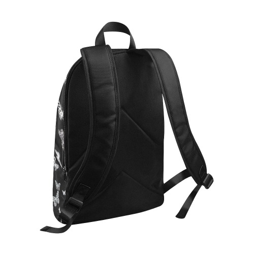 Black Butterfly Fabric Backpack for Adult (Model 1659)