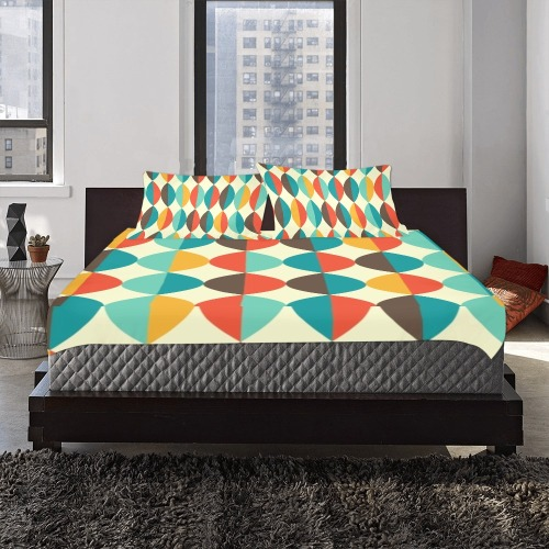 Mid Century Mod 3-Piece Bedding Set