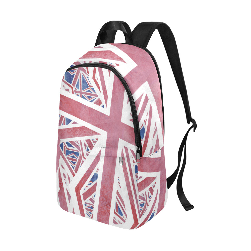 Abstract Union Jack British Flag Collage Fabric Backpack for Adult (Model 1659)